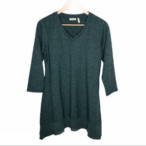 LOGO Lounge French Terry Knit Top Green Size S